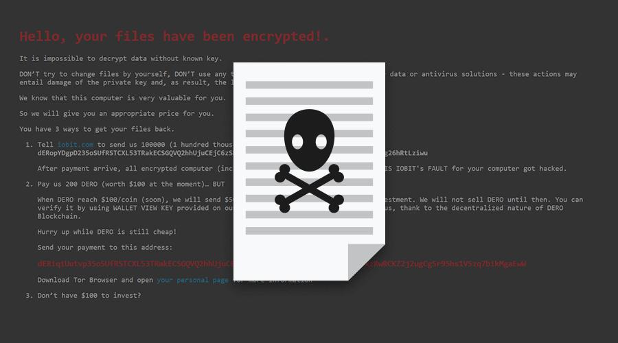 瑞星:國外軟件廠商IObit被黑,免費激活碼暗藏勒索病毒