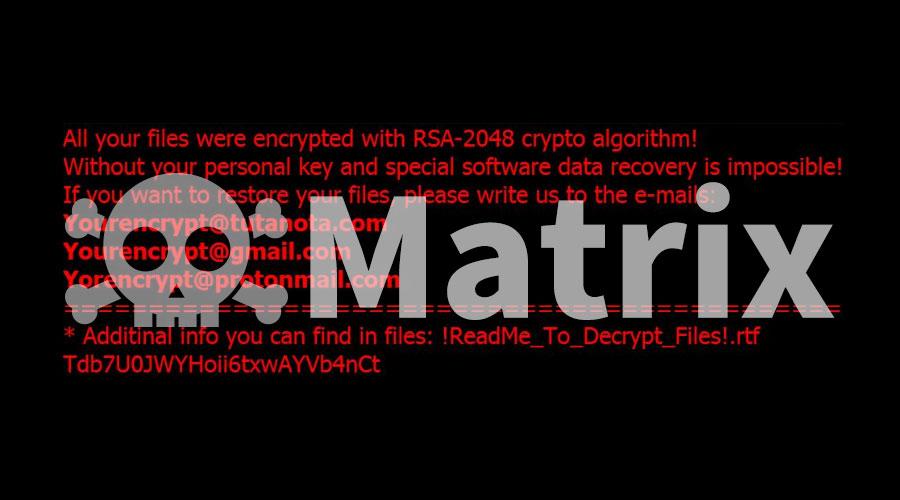通过RDP弱口令进行传播的Matrix勒索病毒