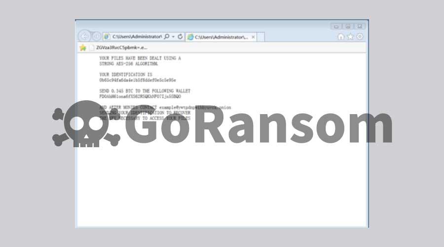 Go语言开发的勒索病毒