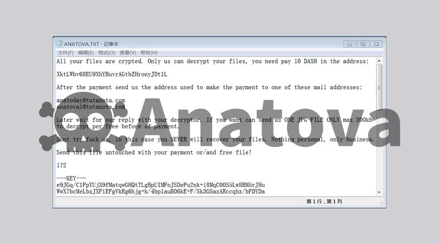 伪装成游戏的Anatova勒索病毒